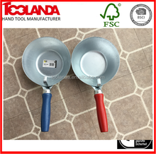 Toolanda Wood Handle zinc plated Steel Cement Bowl