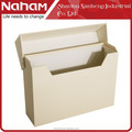 NAHAM Office Folding Desktop Cardboard File Holder with Cover
