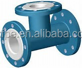 PTFE lined reducer Tee