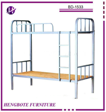 Durable MDF box spring hotel used furniture cheap metal decker bunk beds
