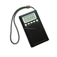 Portable Mini Pocket AM/FM Two Way LCD DSP Digital Radio Receiver with Speaker