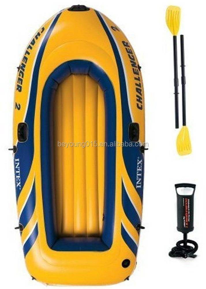 INTEX challenger 2 person hard/flat bottom inflatable boats for sale