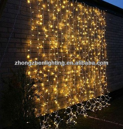 pvc cable led curtain light chain