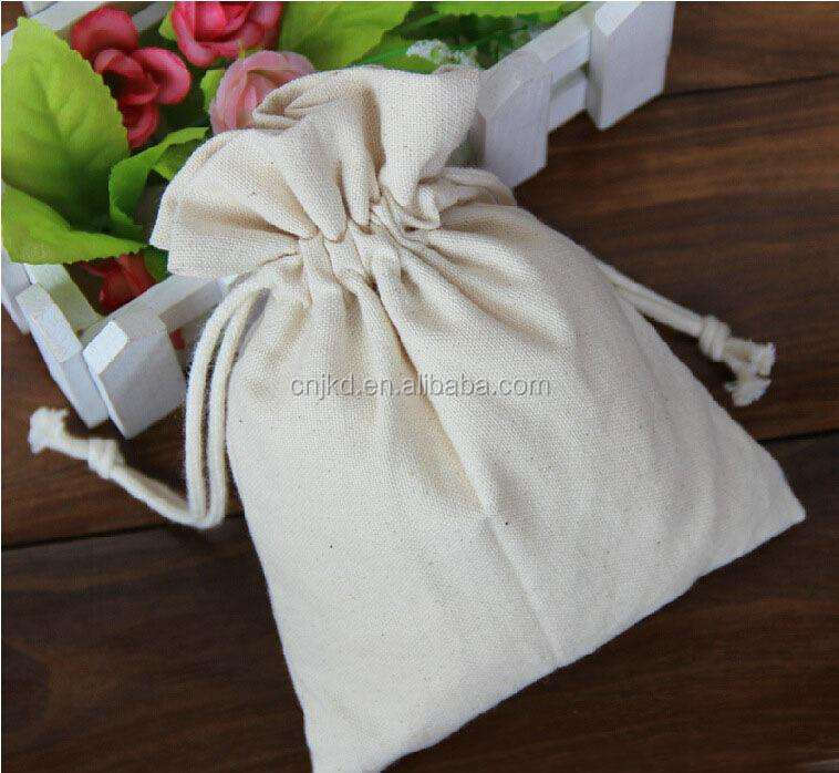 Practicability Custom Size Drawstring Plain White Cheap Cotton Bag Factory China