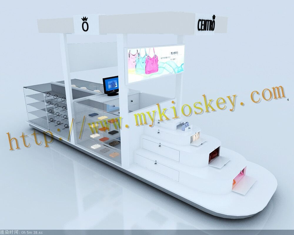 Discount price high end luxury display showcase ring bag kiosk
