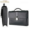 European classic style fashion calf leather briefcase genuine cowhide leather men's business handbags wholesale