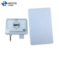 Android/IOS Mobile NFC Card Reader /new-developed audio jack powerful mobile smart card reader pos supplier for payment--ACR35