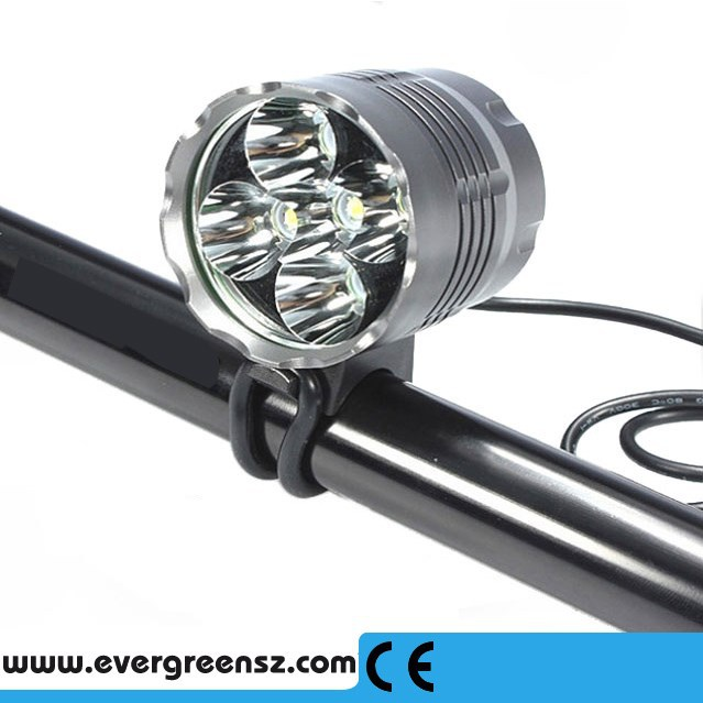 Super long runtime light weight outdoor light 6000lm cree xml t6 led bicycle light for bike