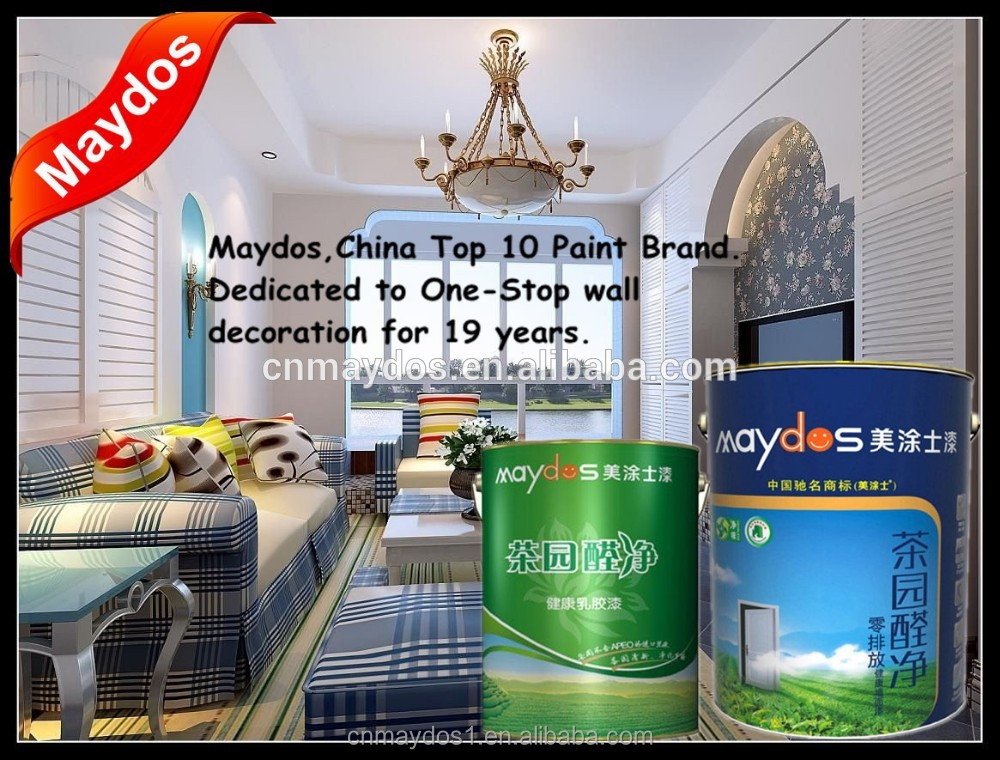 China Top 5 paint companies Waterproof emulsion interior wall latex paint