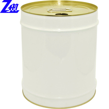 5 gallon steel drum used for solvent chemicals with finger pressed lid