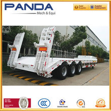Hot season best selling 3 axles Lowboy flatbed semi trailer for sale