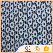 China textile breathable 100%cotton eyelet printed fabric