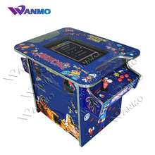 Classical game 412 in 1 mini arcade machine, 2 side 2 player cocktail arcade table game machine cabinet with 21.5 inch LCD