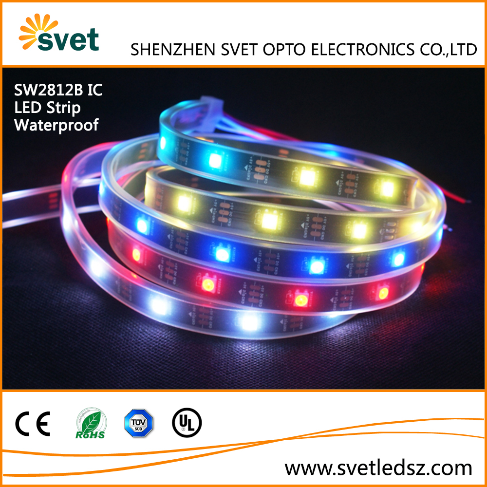Exterior Christmas Lights Addressable RGB Strip WS2812 30 LED Waterproof IP67