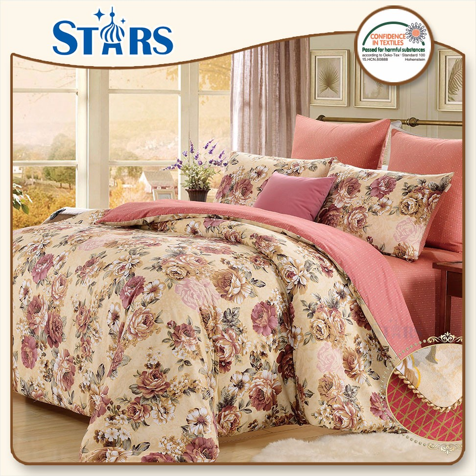 GS-SACOTTON-03 Customized bedcover microfiber pure cotton bedding set