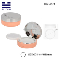 Round plastic empty compact powder container