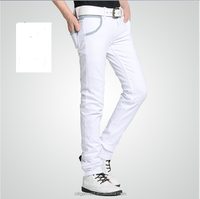 (stock)Popular high quality stretch slim fit pencil jeans for men
