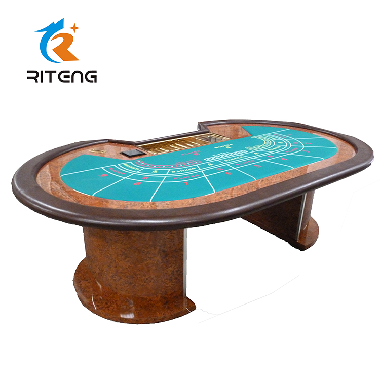 Casino baccarat dining poker tables gambling 7 player baccarat poker table