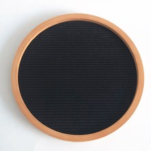 Amazon hot sale round shape felt letter board with wooden frame