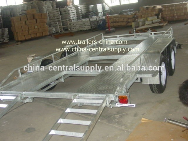 Factory Supply Heavy duty Car carrier trailer of galvanized 1500kgs CCT010