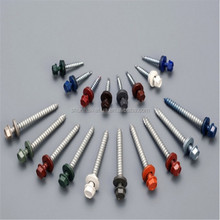 Cheap price Painted Head Roofing Screws With Rubber Washer