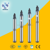 QJ 4inch vertical deep well centrifugal water pump stainless steel submersible pump