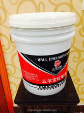 20L printed PP Plastic bucket for coating, latex paint, or other chemical products