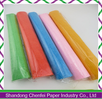 Flower wrapping paper crepe paper florist crepe paper rolls factory direct sale