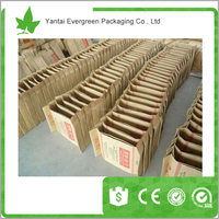 PP/PE woven block square bottom valve bag/PP packing bag/Plastic packing bag 25kg