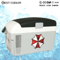 CE car fridge freezer box 12v 10 litre portable