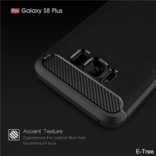 2017 New Style Brush Silkprint Carbon Fiber Pattern TPU Mobile Phone Case For Samsung Galaxy S8 Plus