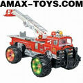 rfe-1091628 rc fire truck Emutational Remote Control Ladder Truck with Music and Lights