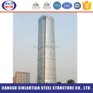 New design prefabricated office building steel multi high rise building structure