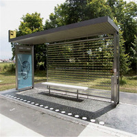 Street Service Equipment Solar Bus Shelter