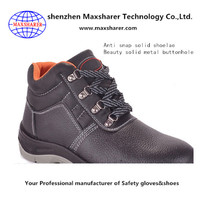 Latest design genuine Leather safety shoes construction site work safety shoes for women
