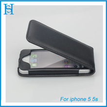High Quality PU Leather Phone Case Cover for iPhone 5 5S Black