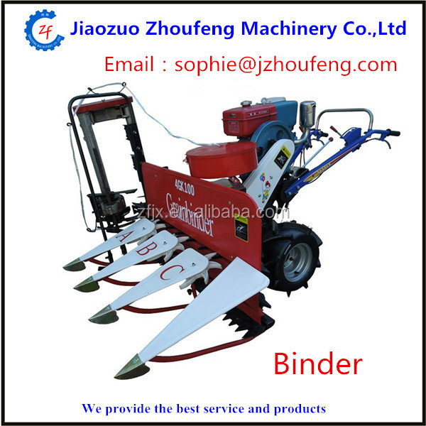Farm popular small grain wheat rice harvesting binding machine