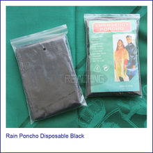 2014 Propular Sell Rain Poncho Disposable Black