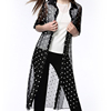 Cheap Long Chiffon Cardigan Women Clothes Wholesale Floral Print Cardigan