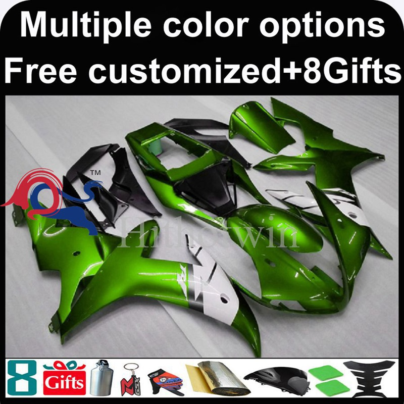 green Body motorcycle cowl for Yamaha YZF-<strong>R1</strong> 2002-2003 <strong>02</strong> <strong>03</strong> YZFR1 2002 2003 <strong>02</strong>-<strong>03</strong> ABS Plastic Fairing