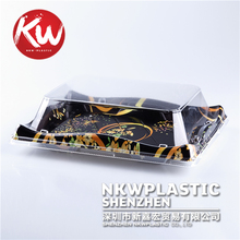 KW-0003 Disposable Plastic Take Out Container Sushi Cookie Fruit Clamshell Containers with Locking