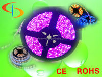 DC12V 60pcs/meter Highlight SMD 5050 RGB LED flexible strip light IP65,CE,RoHS approved