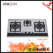 Kitchen Equipments For Home Stainless Steel Built In 3 burners Gas Hob Stove,Brass Burners Gas Hobs And Stoves