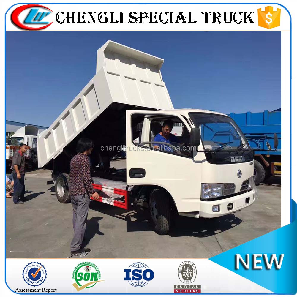Cheap Price Dongfeng Left hand drive Diesel 4x2 4x4 Small Dump Truck 3 ton 5 ton for sale