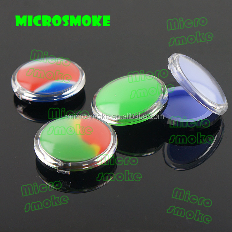 Plastic clear silicone silicone bho container small clear acrylic storage containers oil dab wax containers