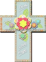 Unique wall art wooden cross hanging