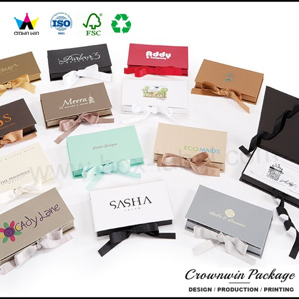 Large Velvet Coffin Shape Credit Card Gift Box Of Dongguan Crownwin