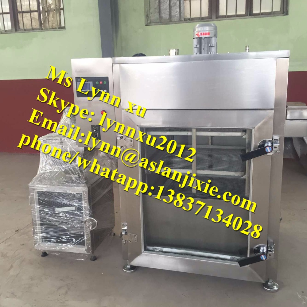 50kg sausage meat smoker /small fish smokehouse / cheap chicken meat smoking machine