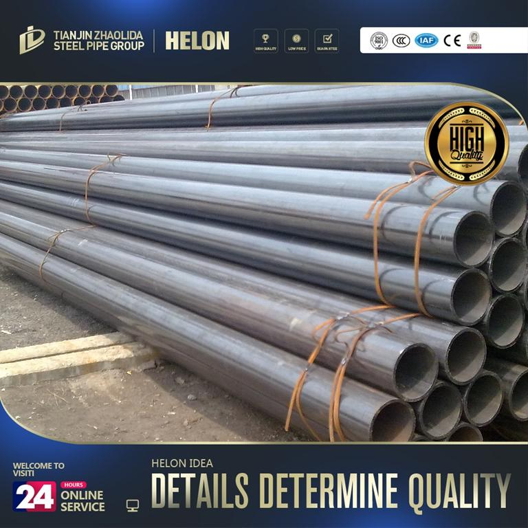 OEM pipe factory all sizes hot sale erw black mild steel pipe with high quality