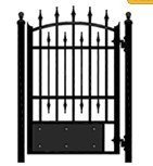 2013 top selling hot dipped galvanized decorative cast iron gate models